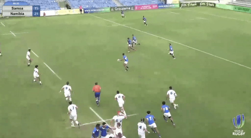WATCH: Samoa Under 20's go FULL HORRIBLE with a set piece move that rightly receives rapturous applause