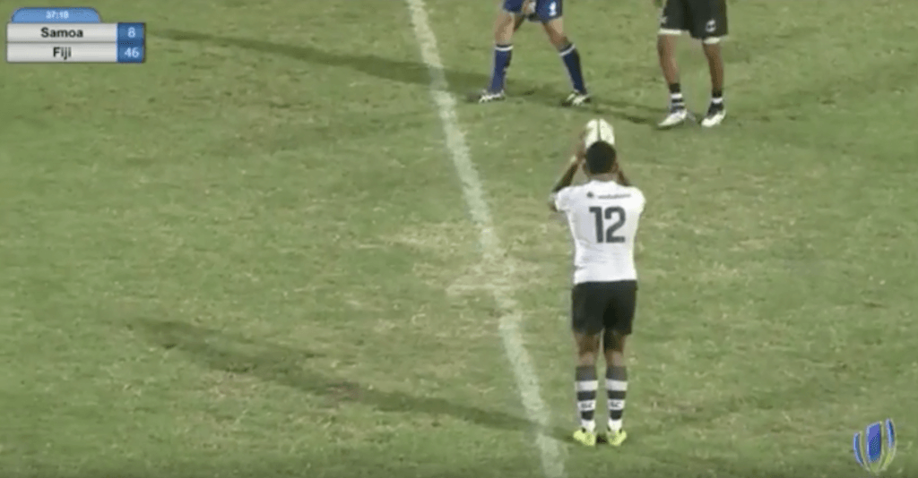 VIDEO: Fijian Under 20's player reveals swan-like reflexes to score directly off the restart