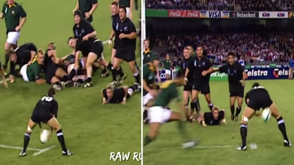 "RAW RUGBY: A video has been made on the best ""through the leg"" passes ever and you will have to watch it alone"