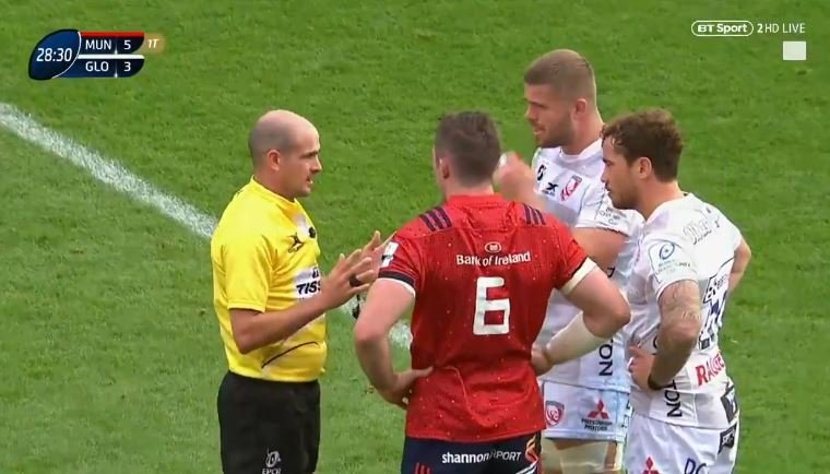 FOOTAGE: Danny Cipriani gets mind-meltingly soft red card