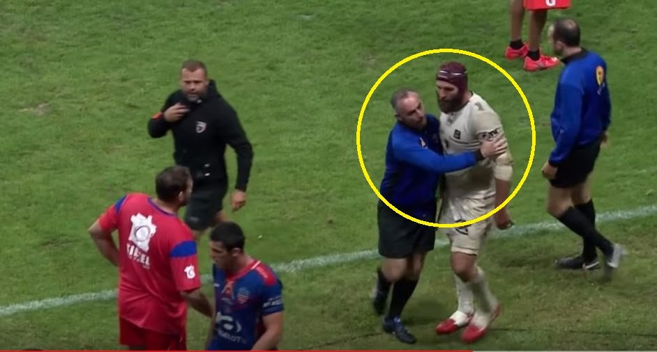 VIDEO: What this player does sparks an off-field brawl in France
