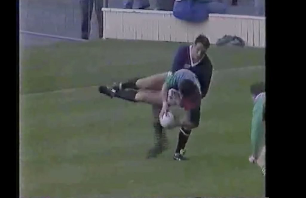 FOOTAGE: In light of recent events, we look at Will Carling's horror try fail that is probably worse than Freddie Burns'