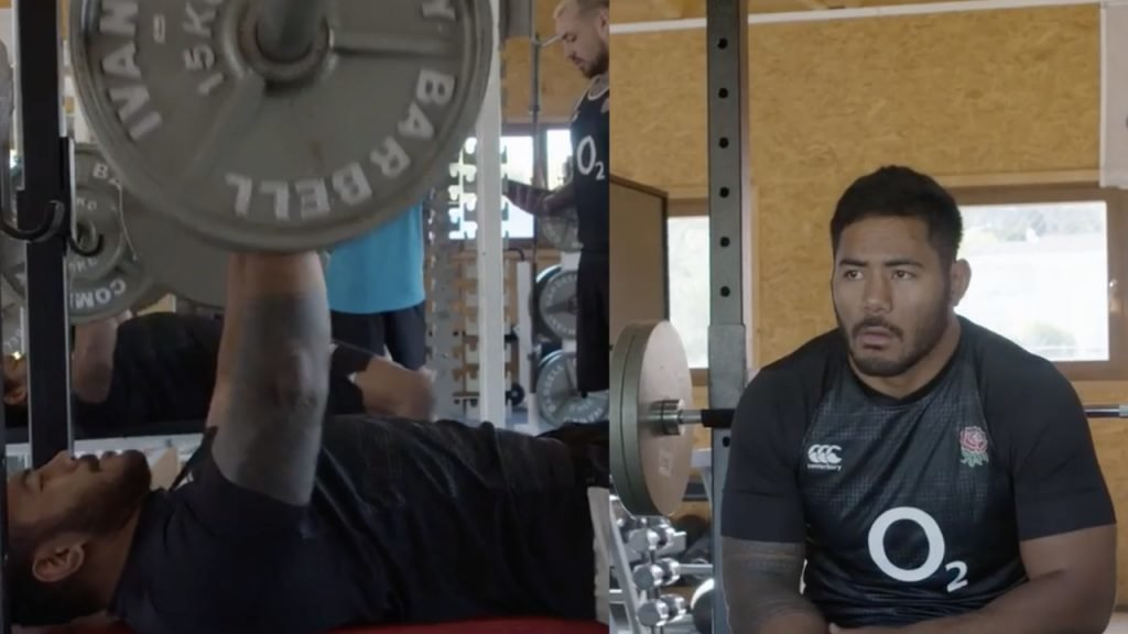 WATCH: Manu Tuilagi is so big that he goes to the gym to lose weight, but still WARMS UP on 130kg