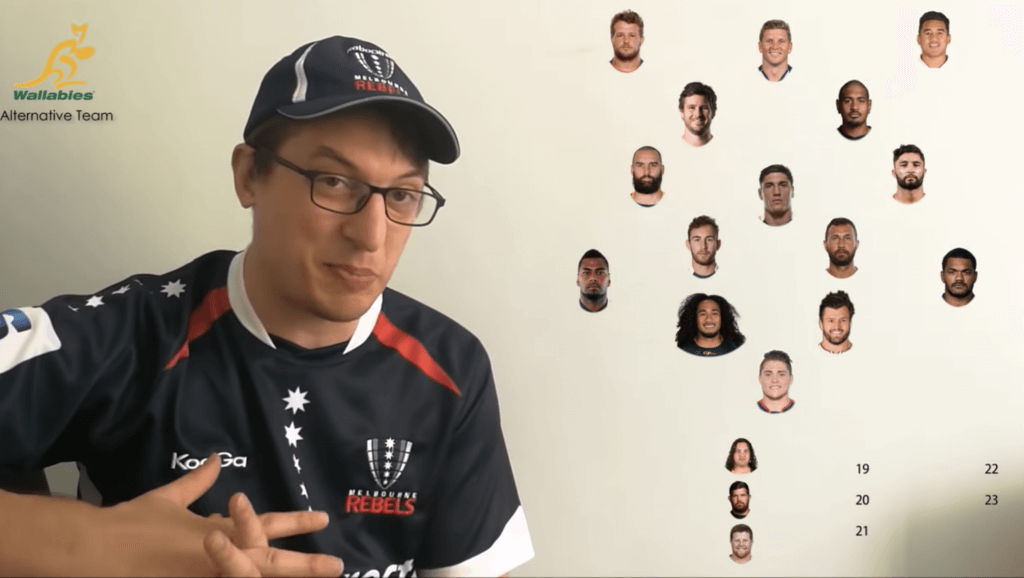 "VIDEO: Australian fan picks an ""Alternative"" team to Michael Cheika - and it could win the World Cup"