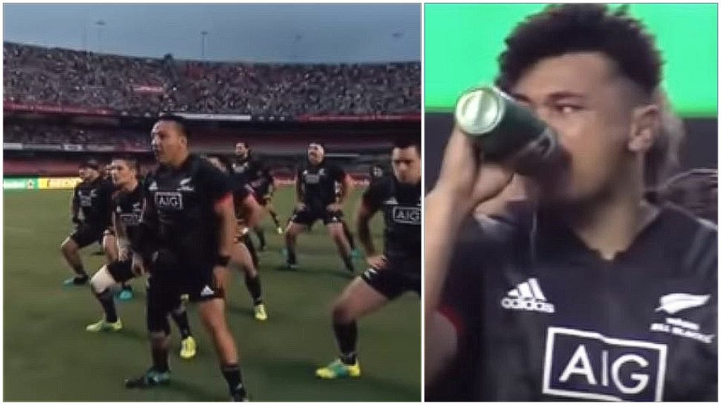 FOOTAGE: All Blacks rocked as Brazil respond to and neutralise Haka