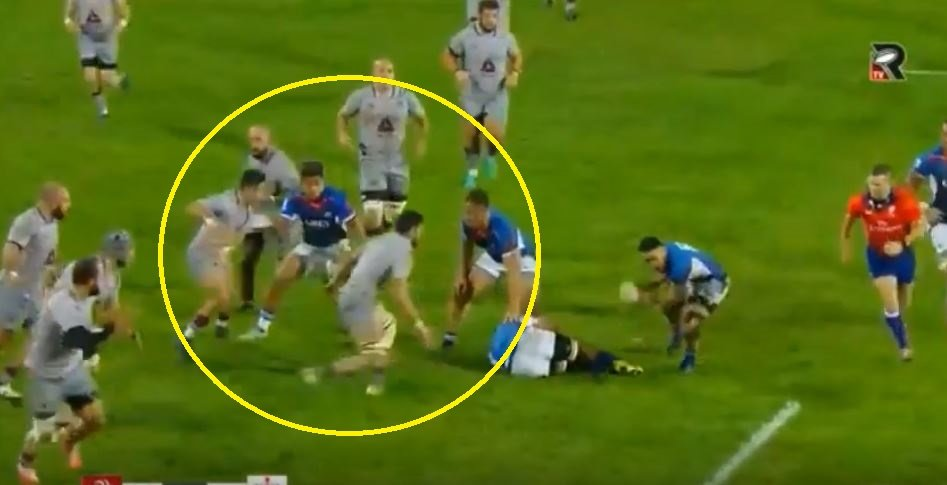 WATCH: Georgian makes 3 tackles in 20 seconds like a relentless tackling machine