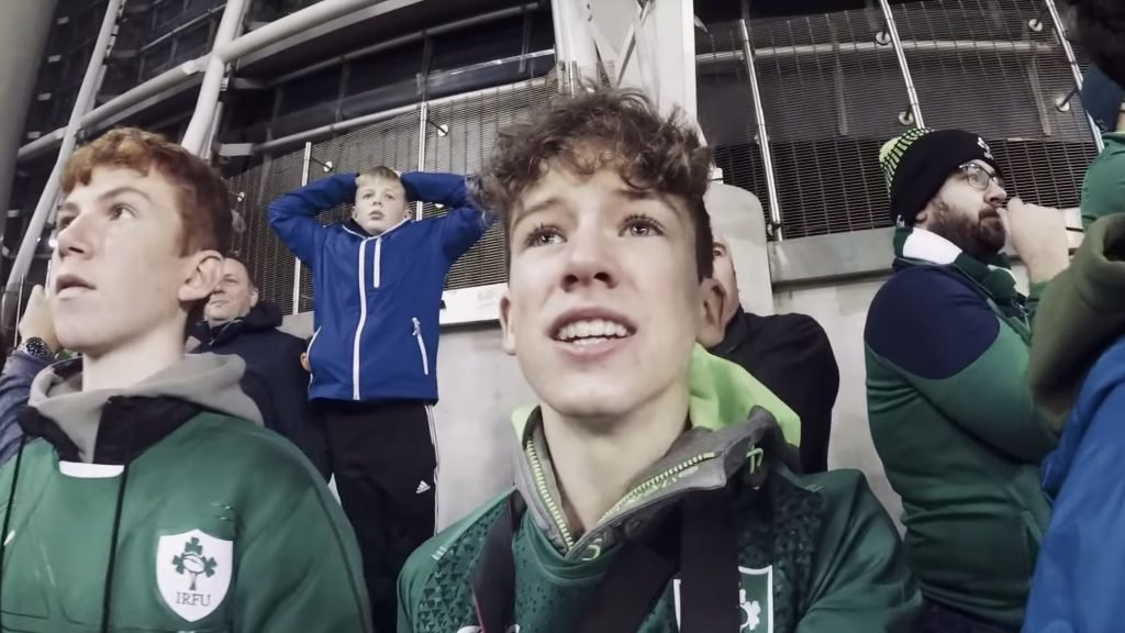 WHOLESOME: Young Ireland fan records the moment the Aviva ERUPTS after New Zealand win