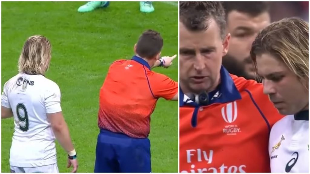 VIDEO: Many missed it but Nigel Owen reffed the **** out of France versus South Africa