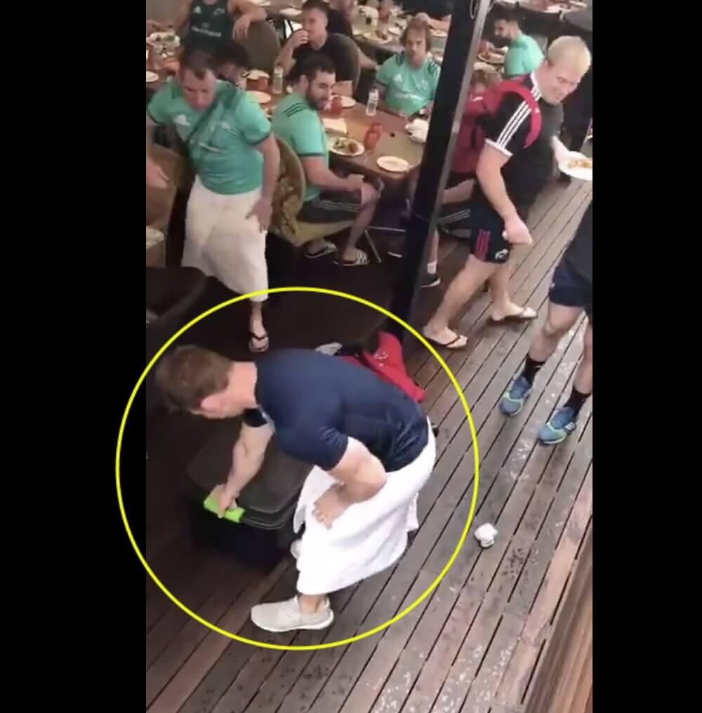 WATCH: Munster team savagely prank their coach