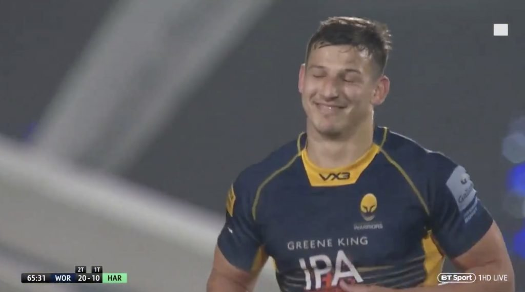 WATCH: Worcester centre shows brutal honesty and admits his try shouldn't have been awarded