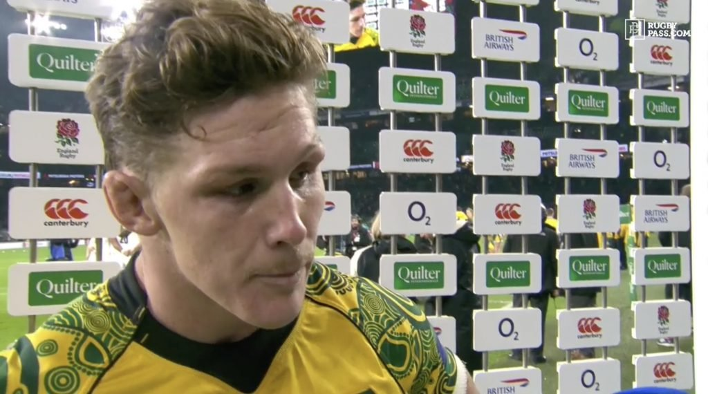 WATCH: Michael Hooper interview turns awkward when asked about Owen Farrell tackle