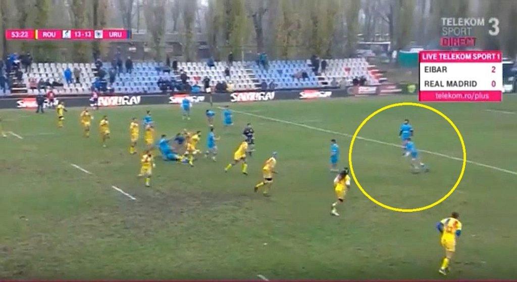 VIDEO: Uruguayuan kicks 75 metre touch-finder worthy of Andy Goode