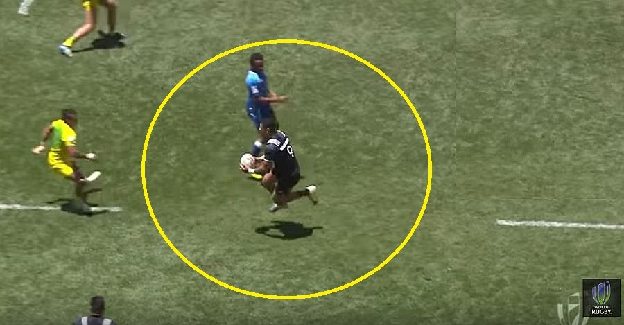 FOOTAGE: All Blacks 7s prodigy uses 'levitation step' to destroy fellow step-master