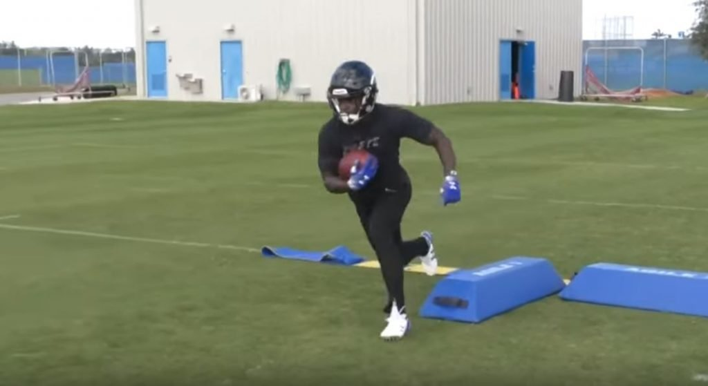 FOOTAGE: Christian Wade training for the NFL