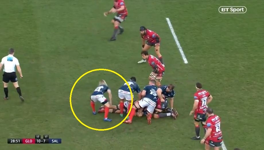 FOOTAGE: Asthon, O'Connor and de Klerk conclude in WORLDIE Sale Sharks set piece try