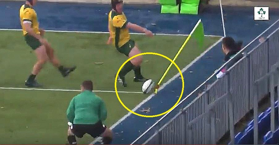 FOOTAGE: Irish U19 player's corner flag finish is tearing the internet apart