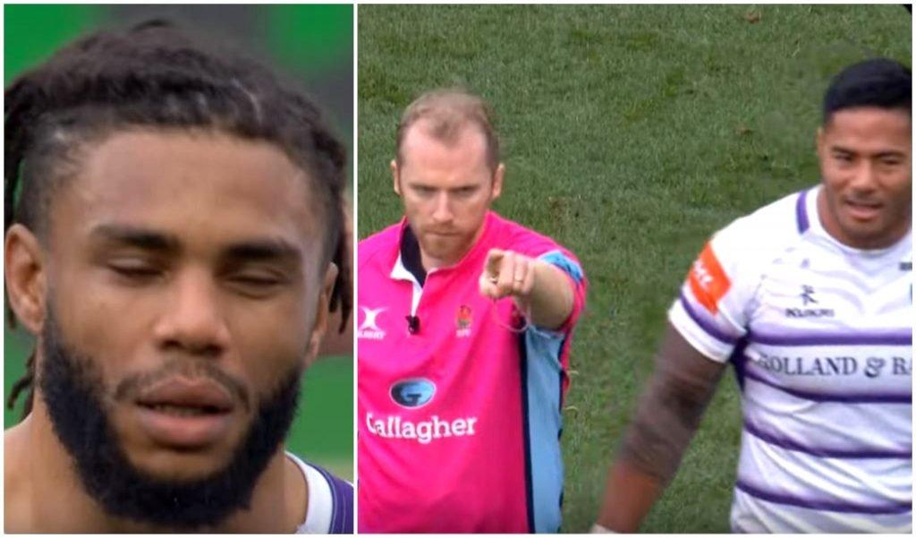 FOOTAGE: Kyle Eastmond's red card hit on Ian Madigan
