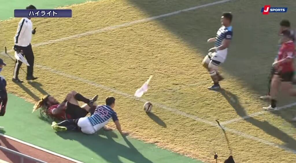 FOOTAGE: Red Dolphin Rene Ranger's corner flag finish features both power and precision