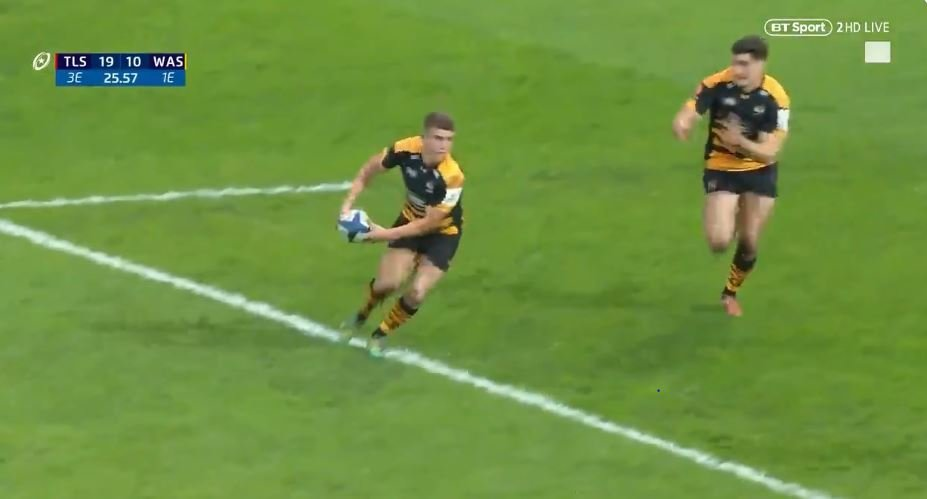 FOOTAGE: Daly and Le Roux unleash hell with electric 22 metre breakout try