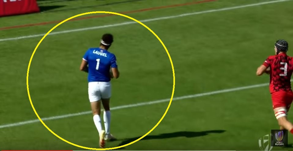FOOTAGE: Welshman's unbelieveable try saver steals Frenchman's very soul