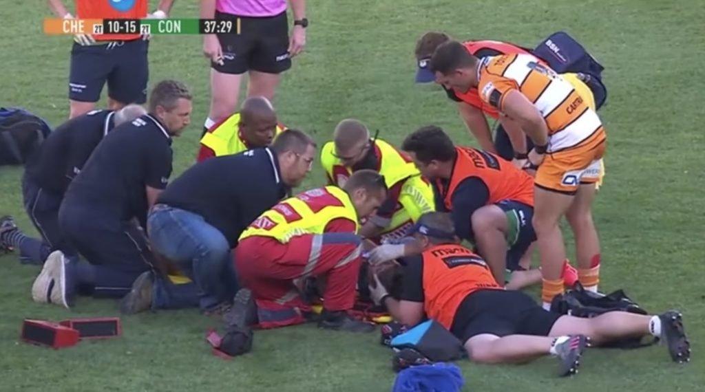 WATCH: Cheetahs player brutally KO's his own team mate