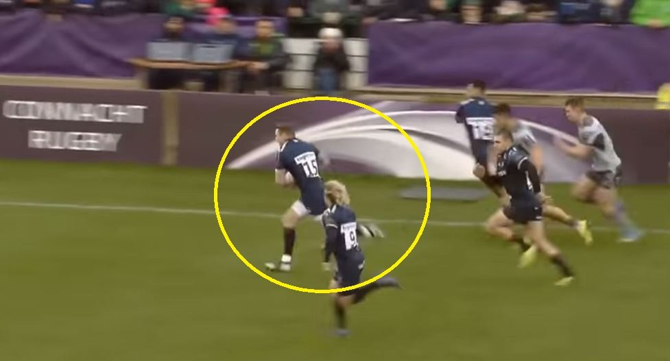 FOOTAGE: Chris Ashton inside cut makes Irish international look like a plate of cheese