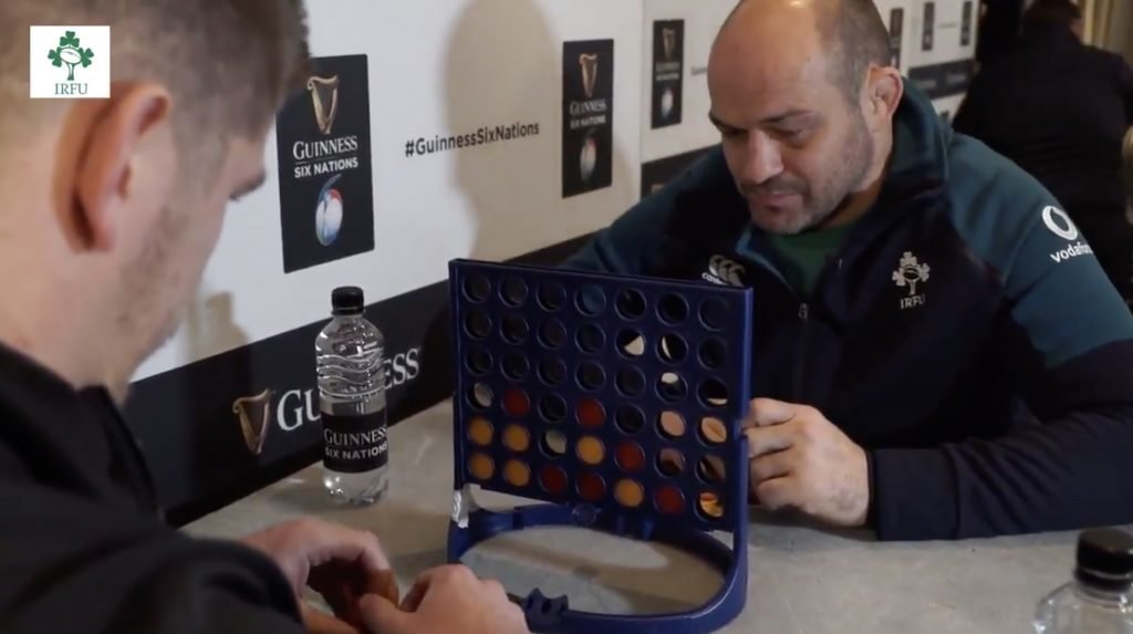 WATCH: Owen Farrell and Rory Best in early mind games BATTLE