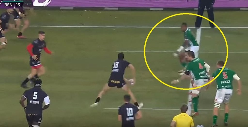 FOOTAGE: 6'2, 100kg Fijian wing shows outstanding pace to score 80m try