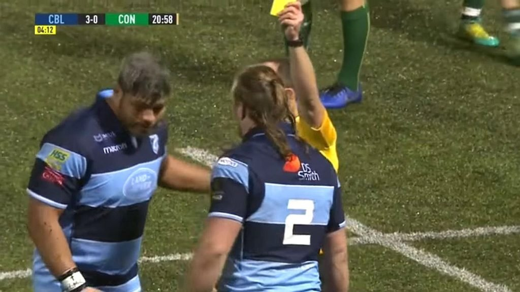 FOOTAGE: 130kg Nick Williams binned for hilariously late hit on Irish international prop