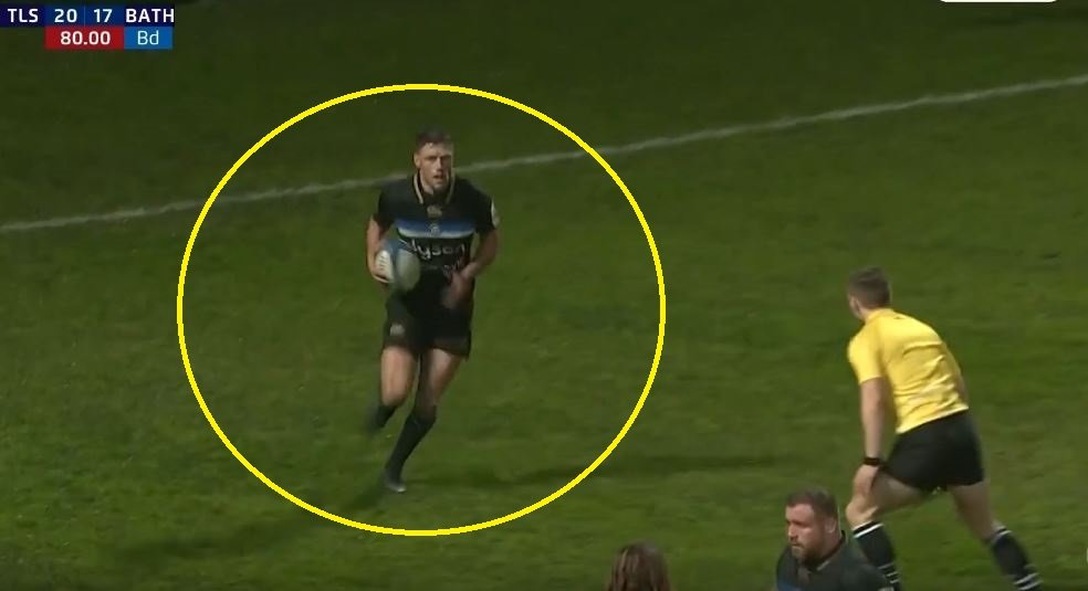 FOOTAGE: Rhys Priestland's last kick of a ball for Bath in Europe was forgettable