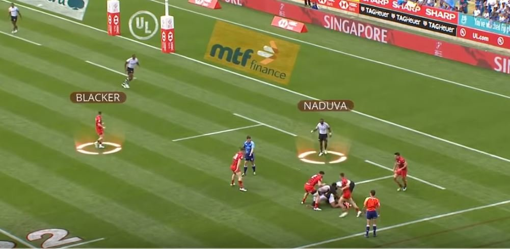 FOOTRACE: Watch the sprint-off between a Fijian and Welshman at the Hamilton 7s