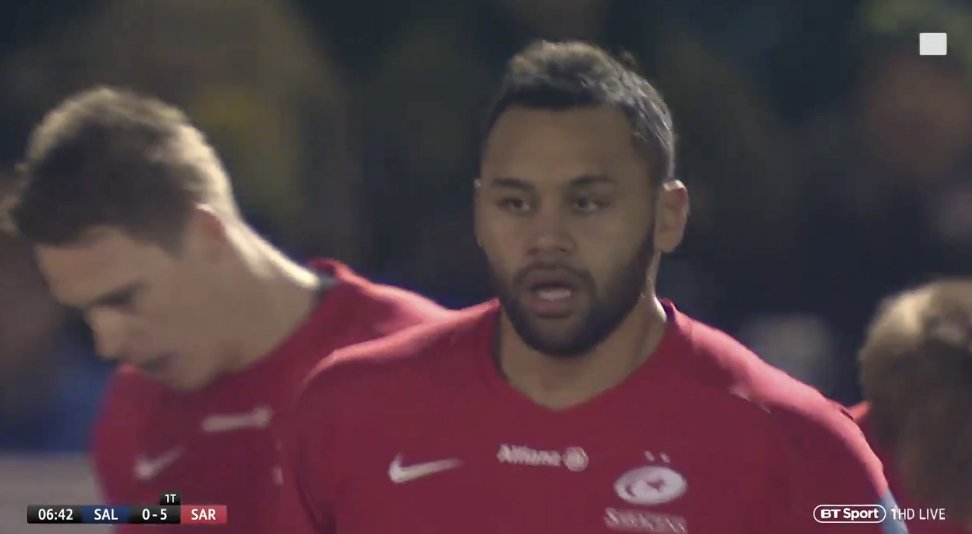 WATCH: Billy Vunipola INSTANTLY powers over for try just minutes into his comeback match