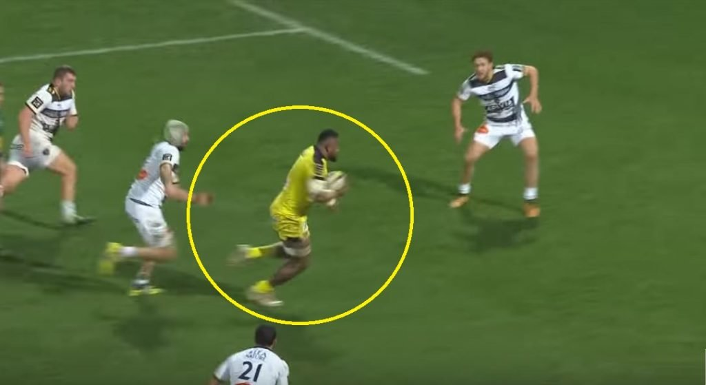 FOOTAGE: Fijian Pecilo Yato runs through La Rochelle triple tackle like it was nothing