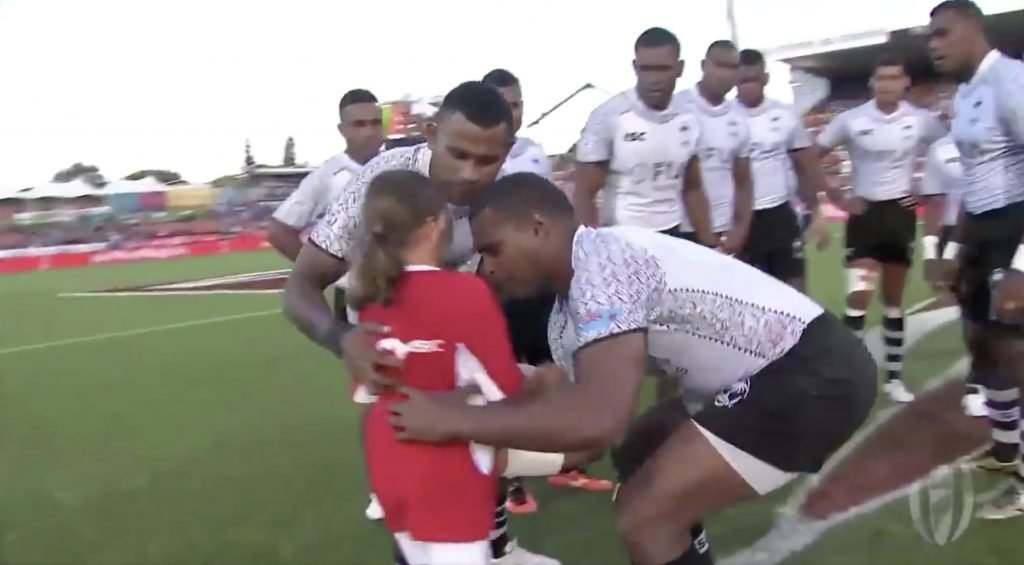 WATCH: What the Fiji team did to this girl is the strangest but best thing to ever happen