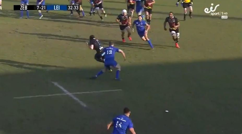 FOOTAGE: Ex-England U20s flyer skins Leinster's speedsters with sheer pace