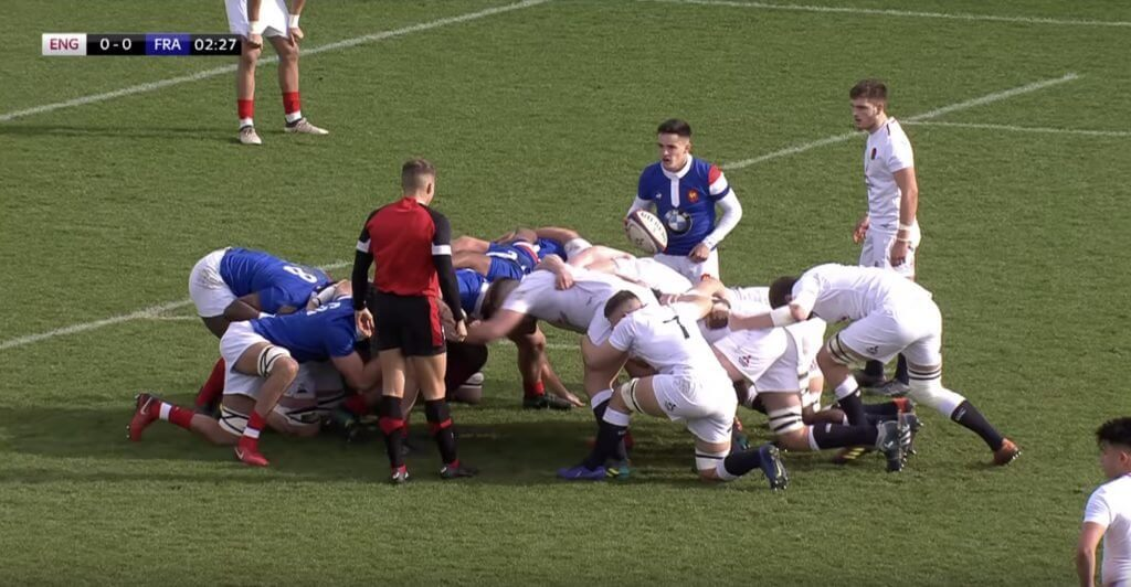 DESTRUCTION: England Under 20's scrum obliterates the French for 80 minutes