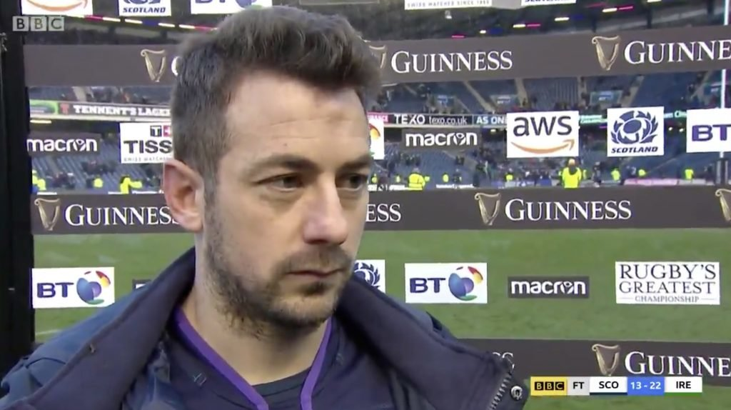 WATCH: Greig Laidlaw has some frank words for Romain Poite after Scotland's loss to Ireland