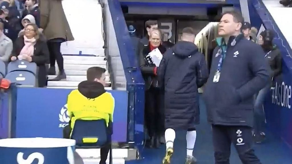 FOOTAGE: The shocking moment Stuart Hogg assaults an advertising board and calmly walks off