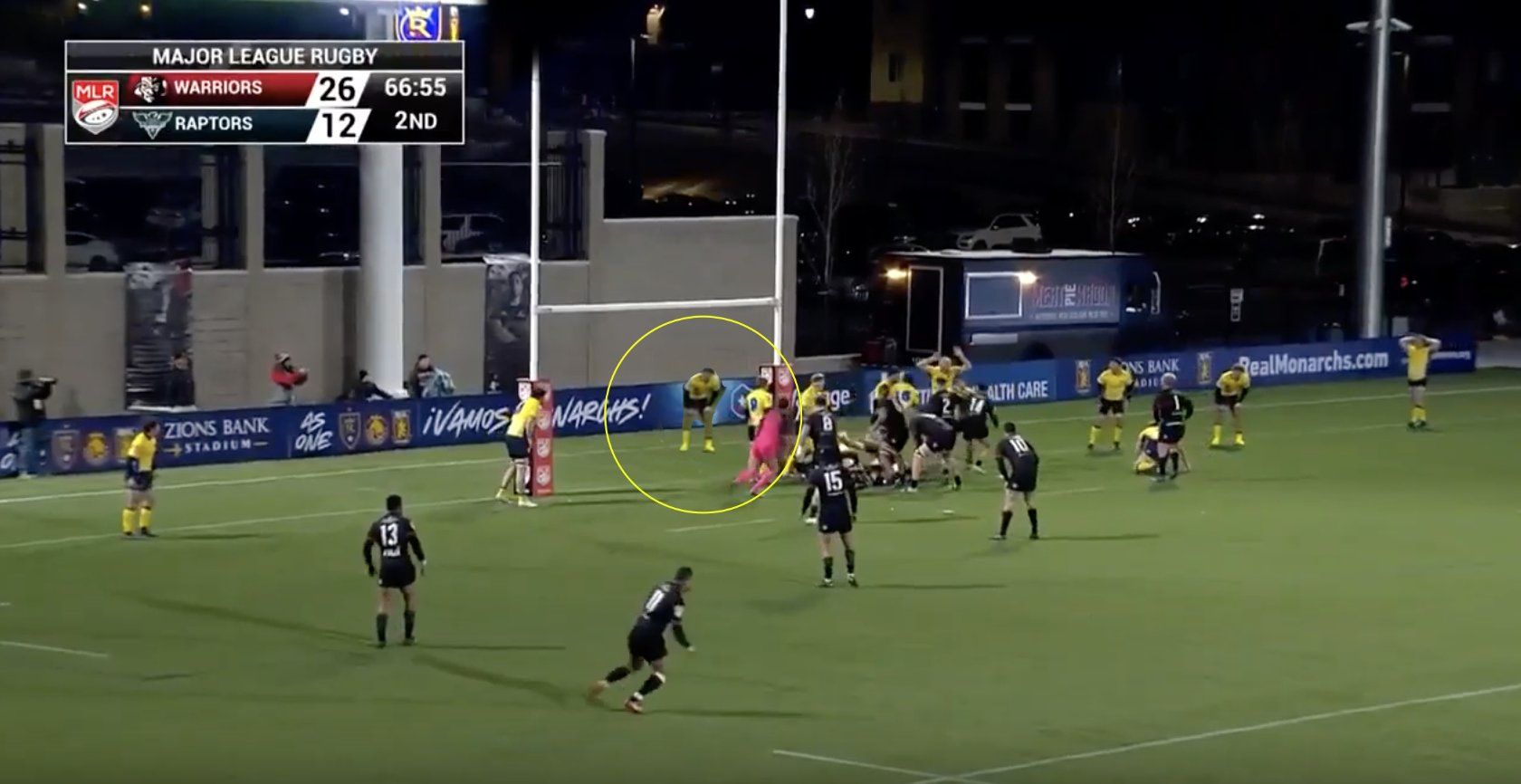 WATCH: The record for the longest solo try by a Hooker has just been broken