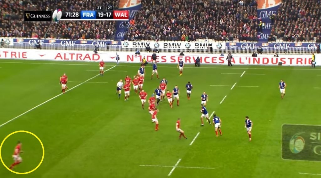 Replay shows just how well read George North's 55 metre intercept was