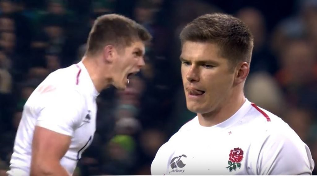 FOOTAGE: Owen Farrell kicks 58 metre monster penalty to seal win in Dublin