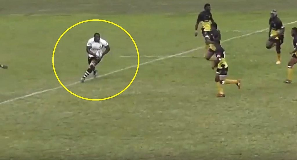FOOTAGE: Fiji's Peni Ravai is the most athletic prop in world rugby