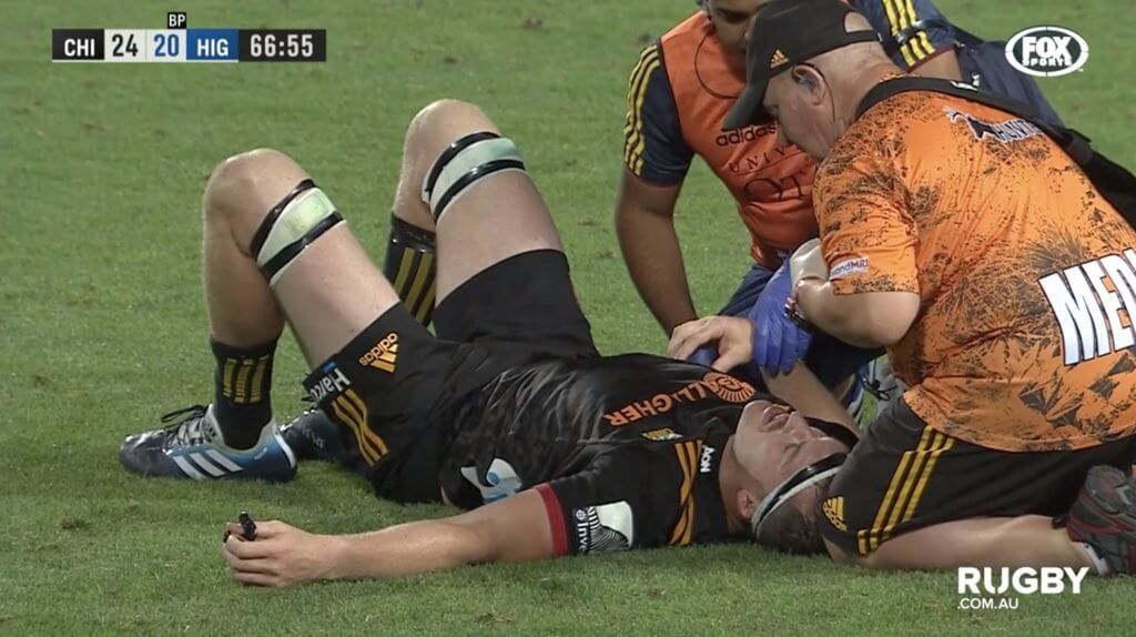 WATCH: Brodie Retallick gets absolutely SMOKED in first game of Super Rugby season