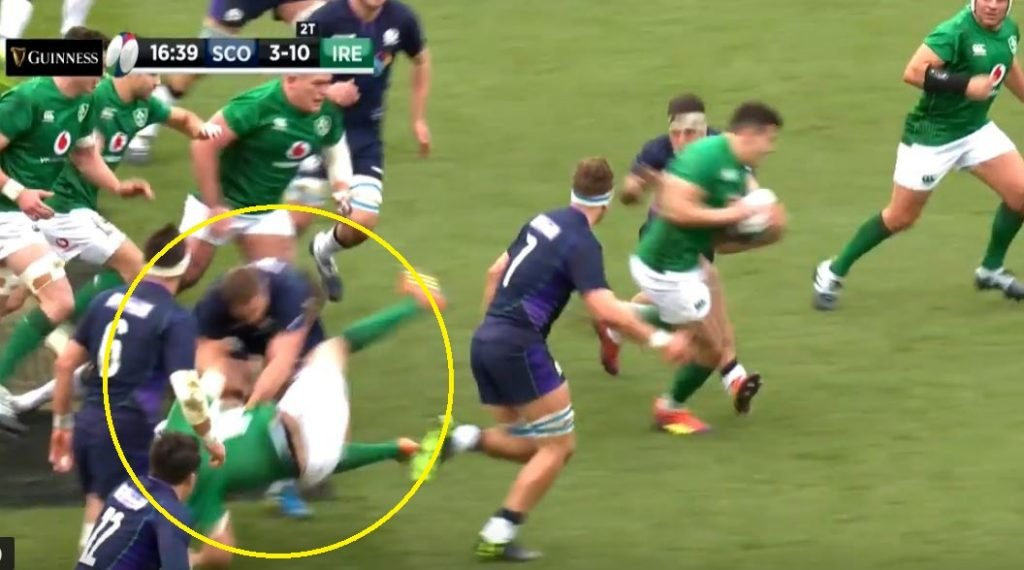 VIDEO: Bully boy hit mars match and ends brave Jonny Sexton's involvement in one fowl swoop
