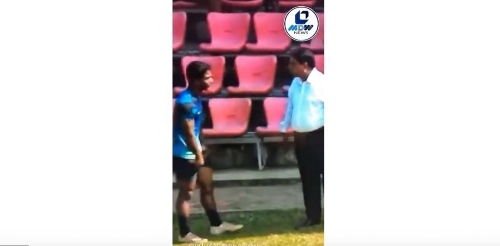 WATCH: Coach slaps schoolboy player several times in view of crowd