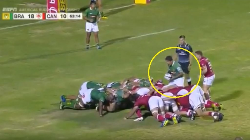 FOOTAGE: What this Brazilian 9 does before every scrum put in is quite bizarre