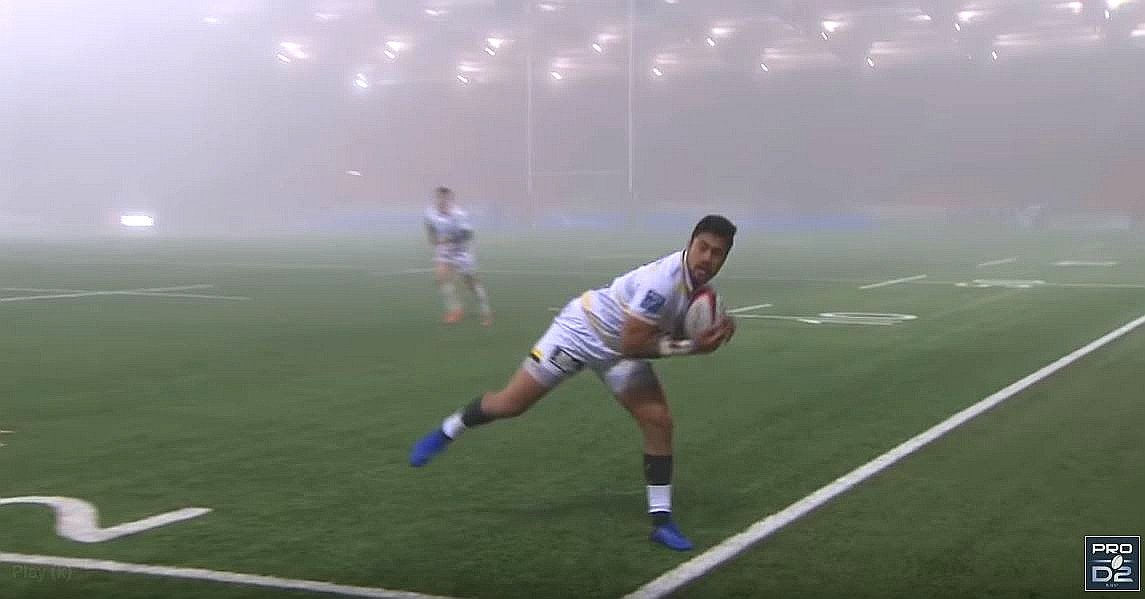 FOOTAGE: Shocking footage shows JJ Taulagi remove a man's soul in France with a step
