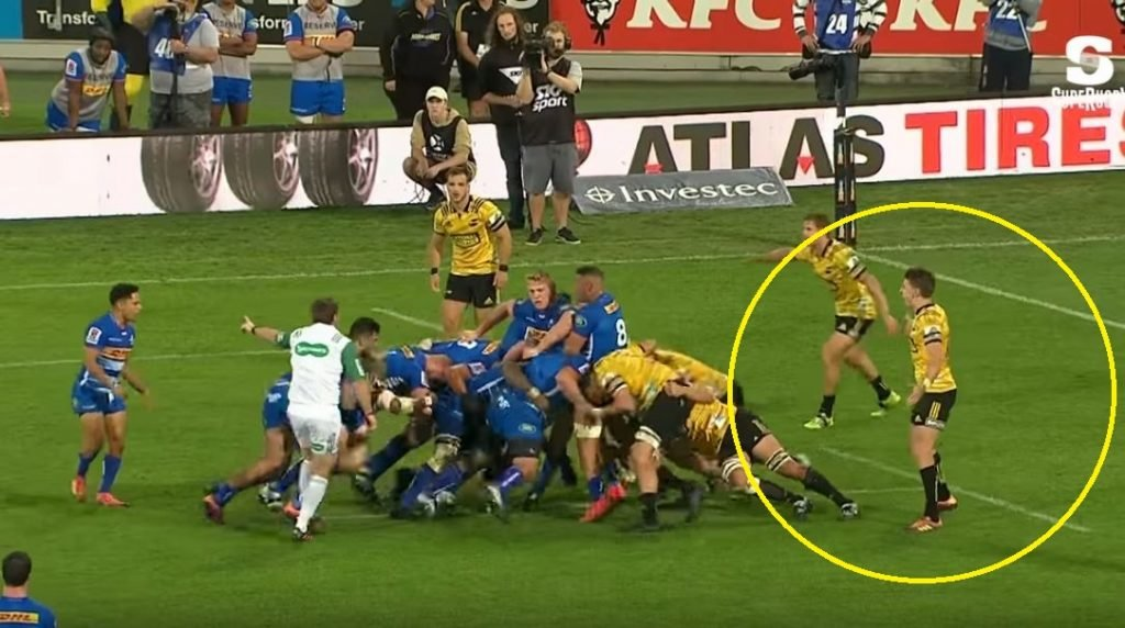 FOOTAGE: Beauden Barrett p*** weak tackling exposed twice in 6 minutes