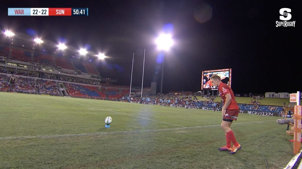 WATCH: Sunwolves fly-half scores one of the best conversion kicks we've seen in a long time
