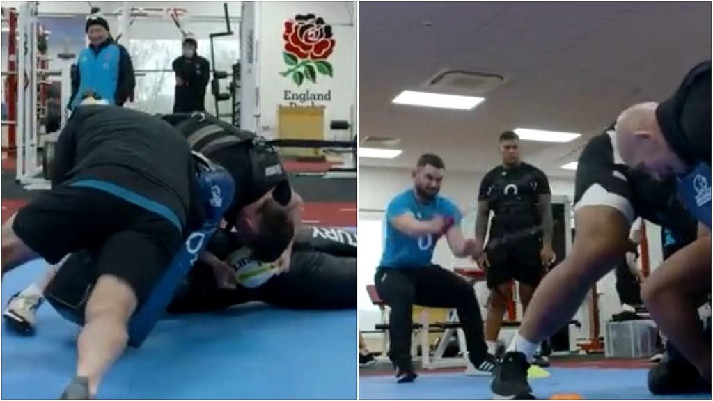 FOOTAGE: England's brutal rucking drills could be secret weapon in war on Scots